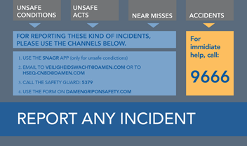 Report any incident