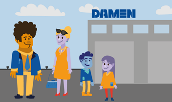 Animation Welcome to Damen introduction